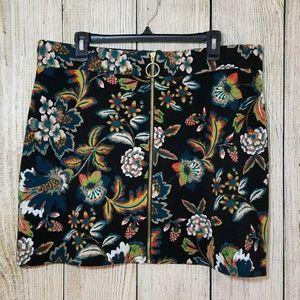 I.N.C. International Concepts floral mini skirt